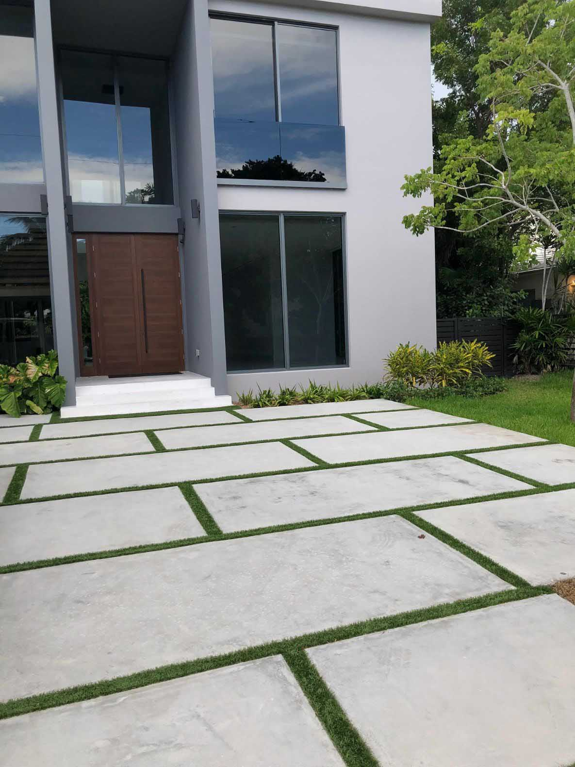 beautiful driveway paving installation in fort worth texas